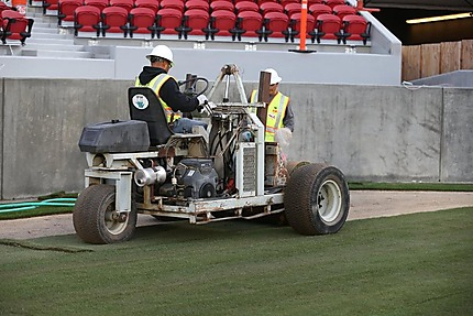 West Coast Turf laying Bandera at Levi's Stadium-49ers.com