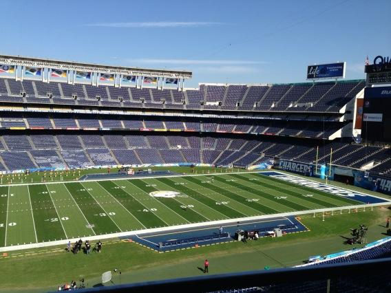 West Coast Turf Sod in San Diego Sod at Qualcomm Stadium